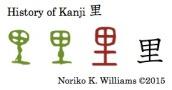 History of Kanji 里