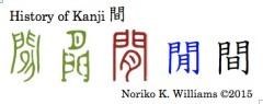History of Kanji 間