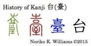 History of Kanji 台 (臺)