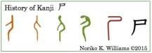 History of Kanji 尸(frame)