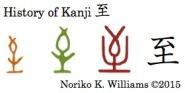 History of Kanji 至