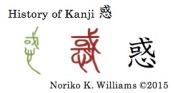 History of Kanji 惑