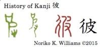 History of Kanji 彼