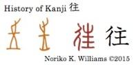 History of Kanji 往