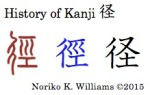 History of Kanji 径