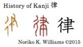 History of Kanji 律
