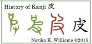 History of kanji 皮 (frame)