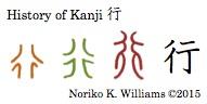 History of Kanji 行