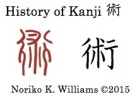 History of Kanji 術