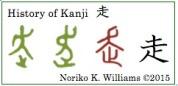 History of Kanji 走 (frame)