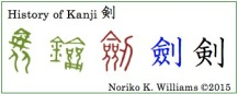 History of Kanji 剣(frame)