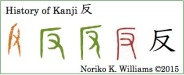 History of Kanji 反 (frame)