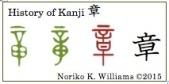 History of Kanji 章(frame)