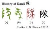History of Kanji 隊