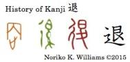 History of Kanji 退