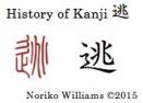 History of Kanji 逃