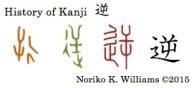 History of Kanji 逆