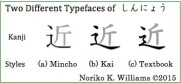 Two Different Typefaces of Shinnyoo