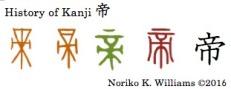 History of Kanji 帝