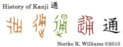 History of Kanji 通