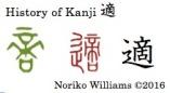 History of Kanji 適