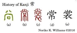 History of Kanji 常