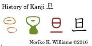 History of Kanji 旦