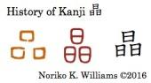 History of Kanji 晶