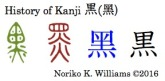 History of Kanji 黒 (黑)