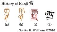 History of Kanji 雪