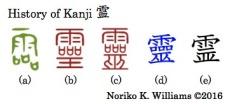 History of Kanji 霊