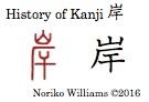 History of Kanji 岸