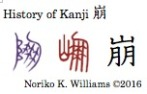 History of Kanji 崩