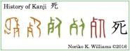 History of Kanji 死(frame)