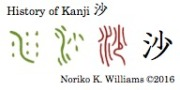 History of Kanji 沙