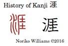 History of Kanji 涯