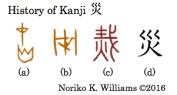 History of Kanji 災