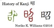 History of Kanji 昭