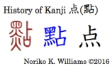 History of Kanji 点