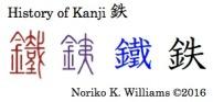 History of Kanji 鉄