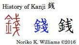 History of Kanji 銭