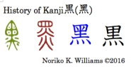 History of Kanji 黒