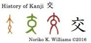 History of Kanji 交
