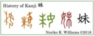 History of Kanji 妹(frame)