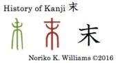 History of Kanji 末