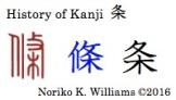 History of Kanji 条