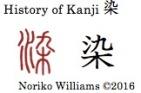History of Kanji 染