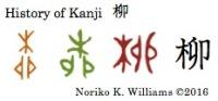 History of Kanji 柳