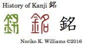 History of Kanji 銘