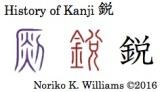 History of Kanji 鋭